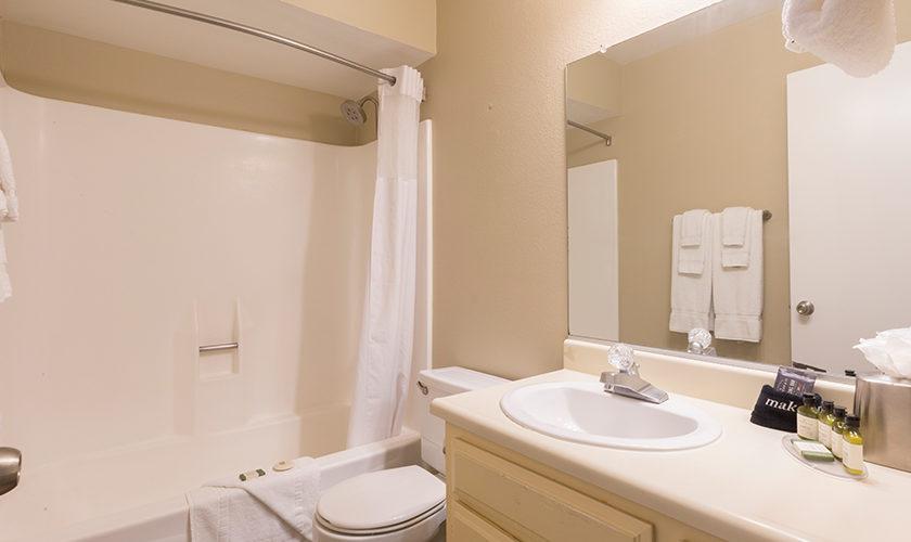 2 story condo guest bedroom